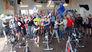 Groepsfoto Spinningmarathon Forza4Mees