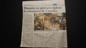 Krantenartikel St Caecilia website F4M